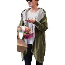 New Arrival 2016 Women Fashion Cotton Warm Loose Hoodie Zipper Sweatshirts Casual Coat Hot Sale Plus Size S-5XL(China (Mainland))
