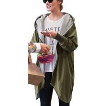 New Arrival 2015 Women Fashion Cotton Warm Loose Hoodie Zipper Sweatshirts Casual Cardigan Coat Hot Sale Plus Size S-5XL(China (Mainland))