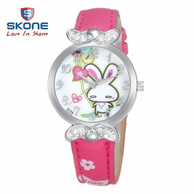 Watch Children fashion Casual girls watches Lovely Cartoon Students Quartz Wristwatches brand SKONE waterproof relojes gift kids - Gooogle Watches Co., Ltd store