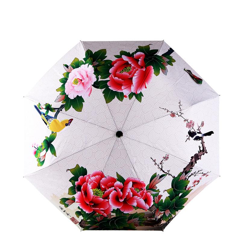 Chinese Flower Umbrella Decorative Fashion Ladies Personal Sun Umbrella Rain Parapluie Free Shipping(China (Mainland))
