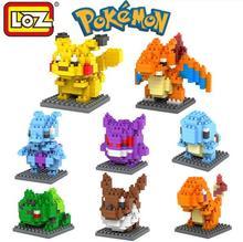 Pokemon Minifigure Building Blocks LOZ Nanoblock DIY Pikachu Figure Model Toys Miniature Diamond Brick Boys Toys