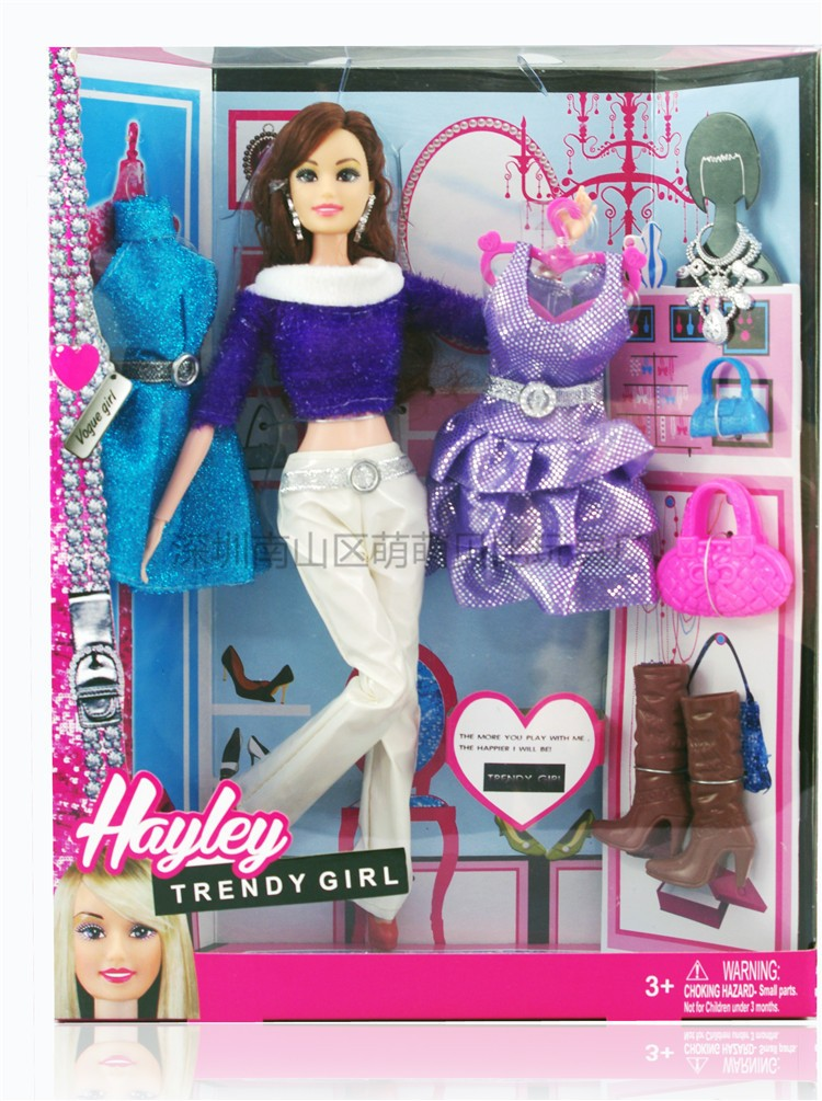 Wholesale christmas present 1pcs new Style toy Plastic dolls costume swimsuit sneakers bag equipment set for barbie doll toys