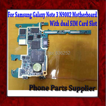 100% Original Unlocked For Samsung Galaxy Note 3 N9002 Motherboard,Mainboard with Chips,Dual SIM Card Slot,Good Working Freeship