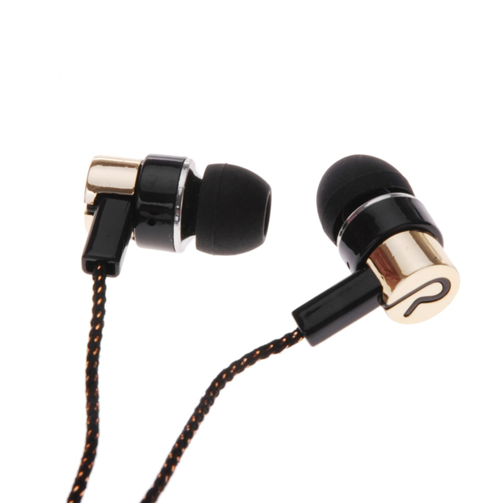 MP3/mp4 Roping Stereo 3.5mm Subwoofer In Ear Earbud 1.1M Reflective Fiber Cloth Line Metal Earphone Hot Sale(China (Mainland))