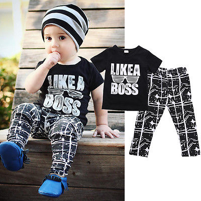 Wholesale Drop Ship Children Kids Short Sleeve Baby Boy Summer Clothes Casual Tops T-shirt + Pants 2pcs Outfits kids clothes set(China (Mainland))