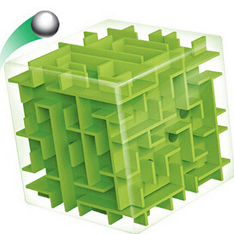 Green Maze Magic Cube Puzzle 3D Mini Speed Cube Labyrinth Rolling Ball Toys Puzzle Game Cubos Magicos Learning Toys For Chilren(China (Mainland))