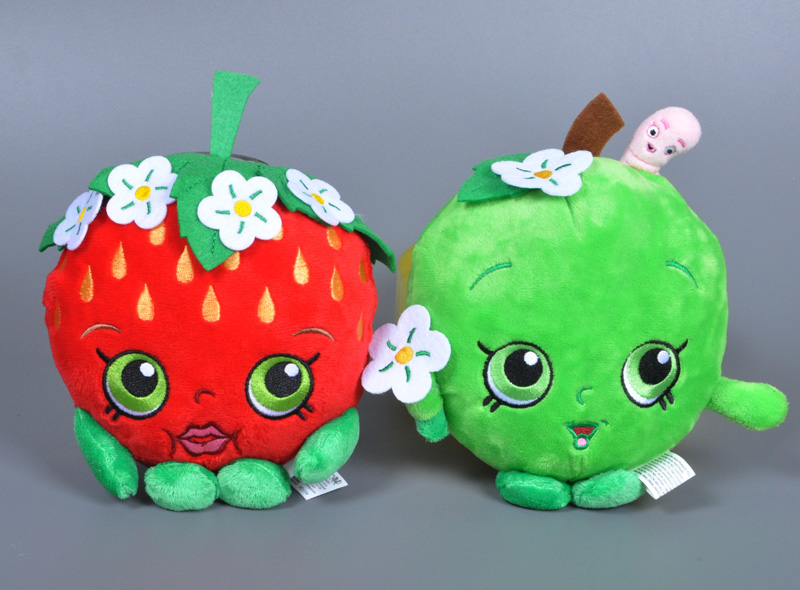 Wholesale Cartoon Strawberry Apple stuffed Toy Anime Fruit Shop toy Sweet Cute kids doll Small Plush Doll toy for children Gift(China (Mainland))