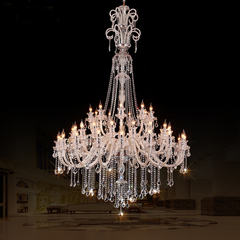 Large crystal chandeliers for hotels modern chandelier high ceiling villa club level chandelier - Ceiling lights and chandeliers ...