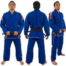 Top Quality Brazil Brazilian KORAL Kimono Jiu Jitsu Judo Gi Bjj Gi Classic Black Blue White Present white Belt kung fu A1-A5(China (Mainland))