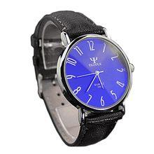 Reloj de pulsera de cuarzo de cristal de Rayo Azul de lujo para hombre marca de lujo reloj de pulsera de hombre hombre(China)
