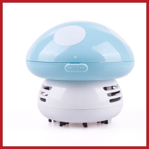 Cute!! buyone Mini Cute Mushroom Keyboard PC Desk Desktop Laptop Dust Collector Vacuum Cleaner wholesale Big discount(China (Mainland))