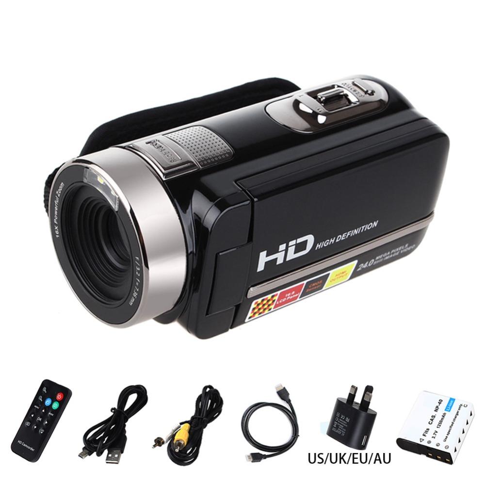 "hd Video Camera Digital Camcorder Full HD 1080P 24MP Video DV DVR 3""TFT LCD 16X Digital ZOOM Support Night Shot Remote Control"