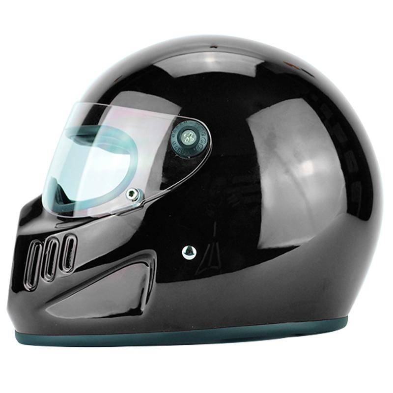 GhosT rider TT CO black shadow motorcycle helmet Japanese Style VINTAGE Full face motorbike helmet(China (Mainland))