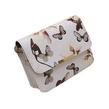 Mulheres Floral Bolsa de Ombro Satchel Bolsa de couro Retro Saco Do Mensageiro Famoso Designer De Embreagem Sacos de Ombro Bolsa Saco Preto Branco(China)