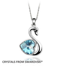 2015 Mother's Day gift! Classic Swan pendant necklace Crystals from Swarovski for Christmas(China (Mainland))