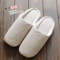 Men and women household linen slippers home indoor Soft bottom slippers