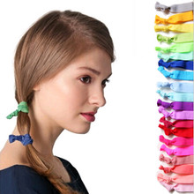100 Pcs/lot Wholesale Candy Color Ponytail Holders twist yoga Ribbon Elastic Bands/ Hair Ties Hair Accessories 15colors TD101(China (Mainland))