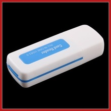 digitalhome Fashion USB 2.0 All in 1 Memory Multi-Card Reader for SDHC MS SD TF Hot Blue Save up to 50%(China (Mainland))