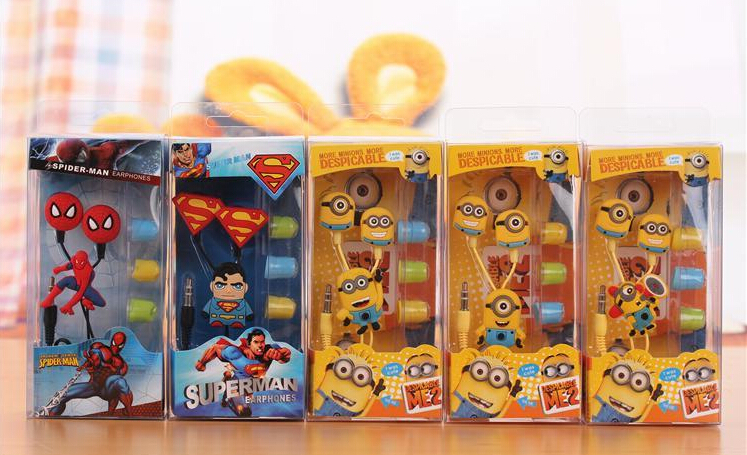 Гаджет  Hot sale ! Despicable Me Minions headset Style 3.5 mm headphone Headphones Earphones for iphone 5 5s Samsung Free shipping None Бытовая электроника
