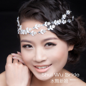 2013 New items free shipping! fashion small flower rhinestone bridal hairband hair jewelry for wedding MN021