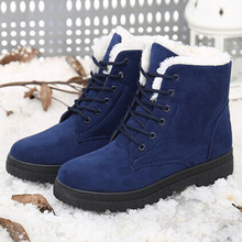 Snow boots winter ankle boots women shoes plus size shoes 2016 fashion heels winter boots fashion shoes(China (Mainland))