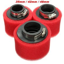Racing Motorcycle Scooter Bike Dirt Pit Air Filter ATV For GY6 50cc 35 42 48mm(China (Mainland))