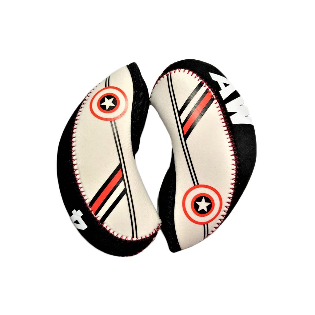 10 шт./компл. неопрена клюшки для гольфа Утюги крышка головки набор 4 5 6 7 8 9 AW SW PW LW 10pcs/Set Neoprene Golf Clubs Irons Head Cover Set 4,5,6,7,8,9,AW,SW,PW,LW