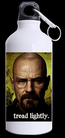 2014 The world popular trend Bad breaking movie charactor Walter White print aluminum sports bottle easy to carry outdoor Cup(China (Mainland))