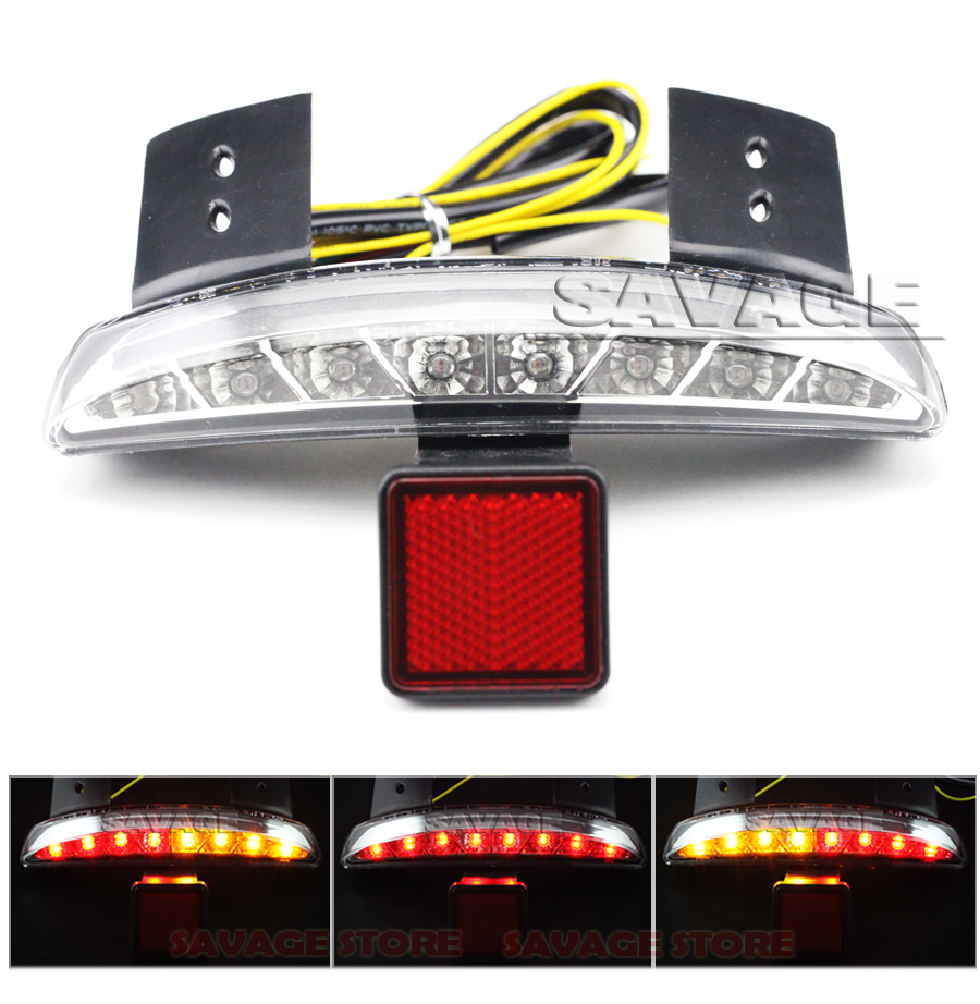 Clear Chopped Fender Edge Integrated LED Tail Light Turn signal Blinker For Harley X48 XL 1200 1200N XL1200X Forty-Eight<br><br>Aliexpress