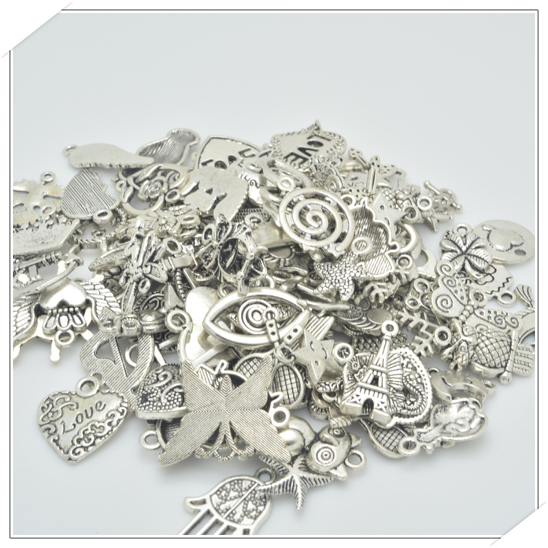 Гаджет  Free shipping! 100pcs / lot Mixed Tibetan Silver Charm 30-50 species alloy fittings for bracelet necklace DIY jewelry making None Ювелирные изделия и часы