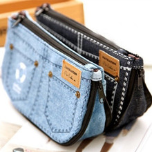 PY045 women cosmetic bags makeup cases organizer Multipurpose Denim purse pen pencil pack Accessories Supplies Products