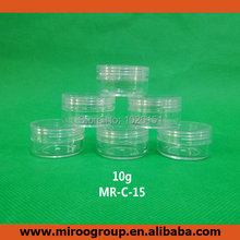 High Quality 100+2 sets 10ml 10g Clear Pots with Clear Lids Mini Cosmetic Empty Jar Pot Eyeshadow Makeup Face Cream Container