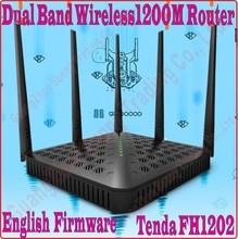 Buy Eng-Firmware Tenda FH1202 Dual Band 2.4G&5G 1200Mbps 11AC Wireless WiFi Router, 5dBi Antenna X5,WDS Bridge, NO COLOR BOX, PROM- for $24.00 in AliExpress store