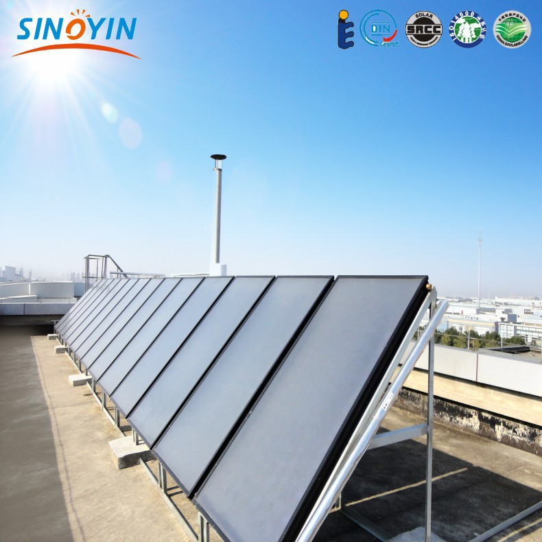 Solar water heater 150lt with flat panel solar collector 2000x1000x80mm 1500w(China (Mainland))
