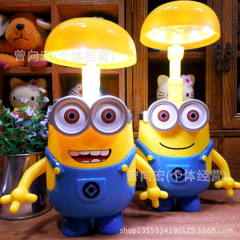 Table lamps Small yellow people multifunctional money pot lamp charging LED small yellow people save money pot creative gift(China (Mainland))