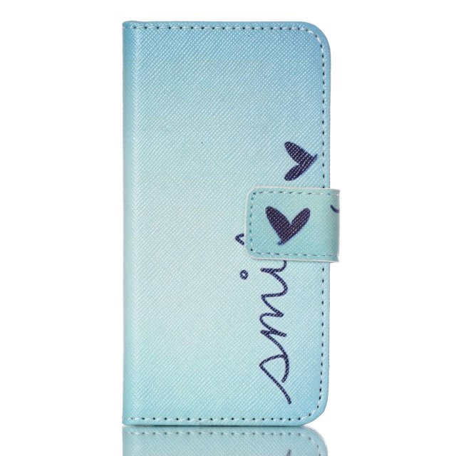 Leather Flip Case for Apple iPod Touch 6 Touch 5 Printed Pattern Wallet Case for Touch 6(China (Mainland))