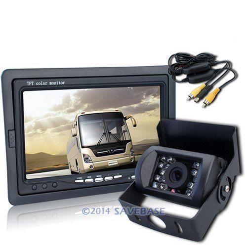 """HOMSECUR 12V Car Wireless Reversing Camera Kit 7"""" LCD Monitor + CCD Night Vision Camera(China (Mainland))"""