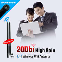 2.4GHz 20 dBi WIRELESS WIFI ANTENNA BOOSTER WLAN RP-SMA FOR USB MODEM ROUTER PCI(China (Mainland))