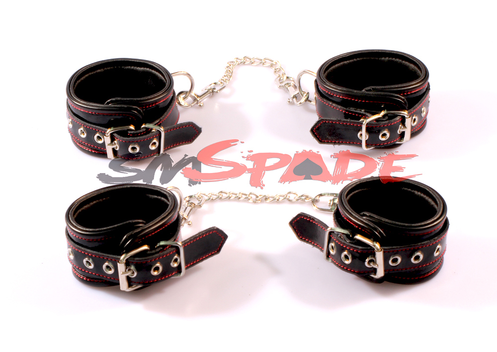 Genuine Leather Restraint Kit:hand cuffs anklecuffs gag Drop Shipping Leather Bounded Sex Toys Couples Sexy fun<br><br>Aliexpress
