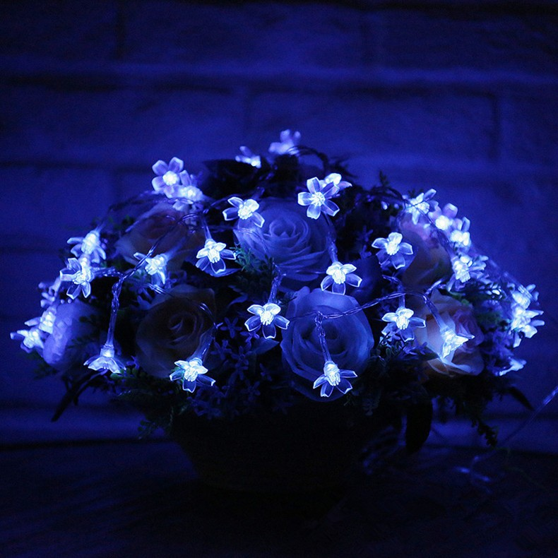 Solar String Lights LED Flowers Decorations4