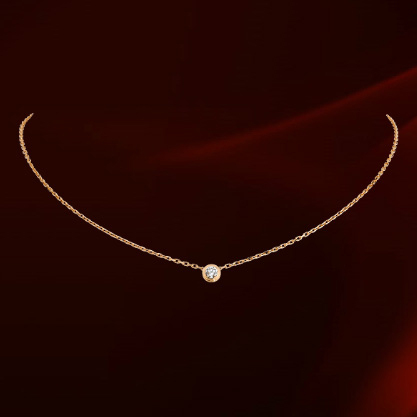 2015 Popular Fashion Italina Brand 18K Gold Plated CZ Diamond Pendant Women Necklace(China (Mainland))