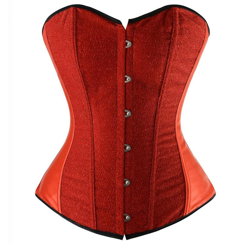 2016 Hot Fashion Sexy Lace up Boned Overbust Corset Bustier Top Waist Cincher Body Shaper Free Shipping(China (Mainland))
