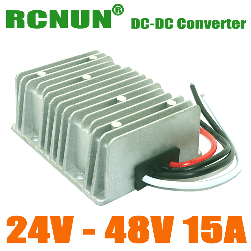 Super Quality 24VDC to 48VDC 15A 720W Voltage Regulator Boost DC DC Step Up Converter Waterproof(China (Mainland))