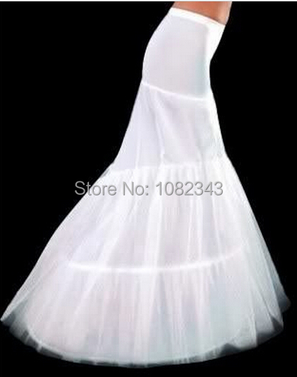 Buy 2016 in stock petticoat 2 hoops white for Mermaid slip for wedding dress