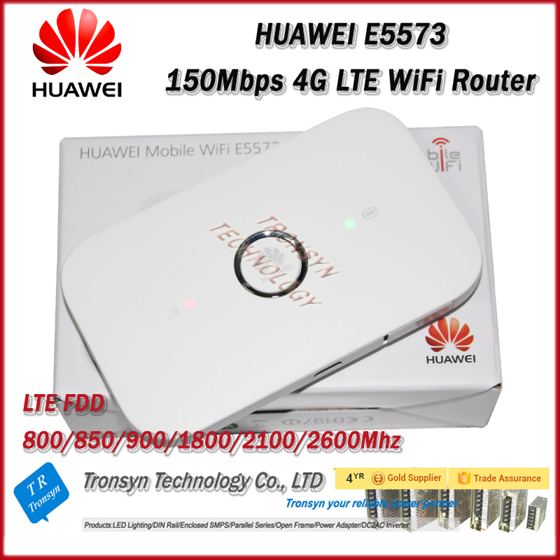 Brand New Original Unlock LTE FDD 150Mbps HUAWEI E5573 4G Router With Sim Card Slot And 4G LTE WiFi Router(China (Mainland))