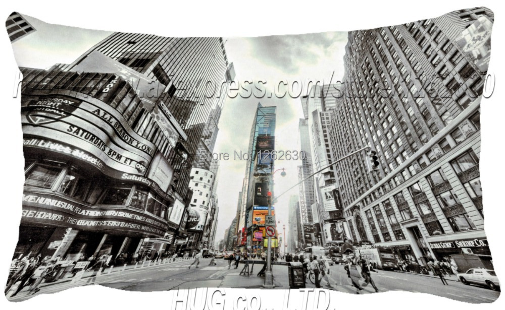 30x50CM NEW York rectangle Times square as black and white fabrics textile vintage print bed cushions home decor cushion pillow()