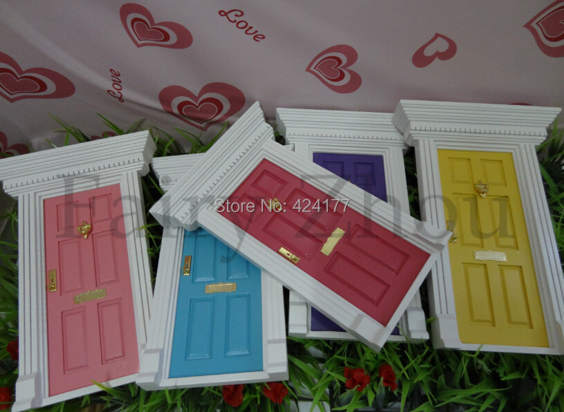 Wood Doll House Diy Cute Lovely Fairy Doors Inspire Imaginative Play for Kids Special Gift For Girl Exquisite Miniatures(China (Mainland))