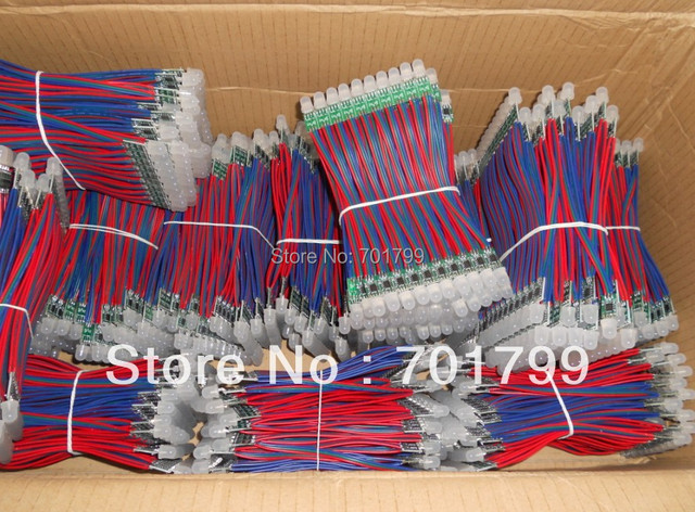non-waterproof DC12V input 12mm WS2811 pixel node,100pcs a string
