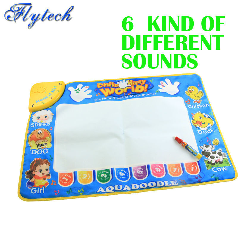 Novelty Modern Educational Magic Funny Toy CP1318NC 49x73cm Doodle Water Drawing Mat/Musical Singing Carpet/Baby Game Rug(China (Mainland))