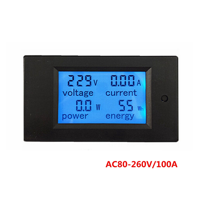 Гаджет  Digital LCD display AC80-260V 100A volt amp meter with Transformer coil  voltage current power energy in one meter  None Инструменты